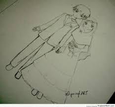 anime newly wed couple u2013 drawings prophet pbuh peace be upon him