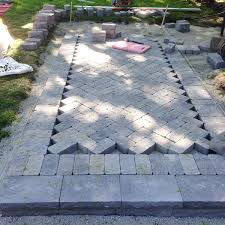Making A Paver Patio by Ramblingrenovators Ca How To Build A Walkway With Pavers