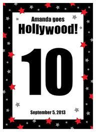 hollywood star party invitation