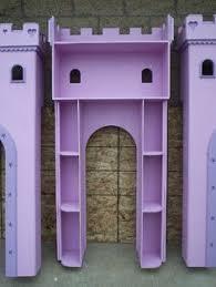 Castle Bookshelf Side Tower Storage Shelves Of The U0027s Princess Castle Bed