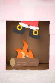 diy cardboard box fireplace damask love
