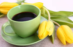 wallpaper borders coffee cups yellow cup morning coffee and flowers wallpaper hd desktop background