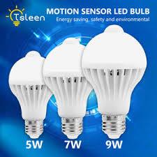 pir led light bulb 5w 7w 9w e27 motion sensor activated light bulb pir led l for