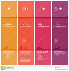 Pink Flat Color 4 Color Flat Design Template Royalty Free Stock Image Image