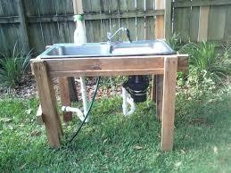 outdoor kitchen sinks ideas modern outdoor kitchen sink 14 sawhorses rolitz patio ideas