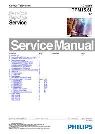 manual de serviço do televisor philips com o chassis tpm15 6l la