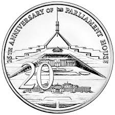 2013 twenty cent australian parliament house 25th anniversary coin