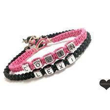 beaded name bracelets shop bead name bracelets on wanelo