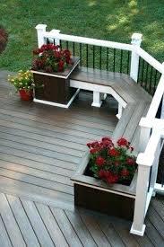 porch storage bench building a wooden deck over a concrete one