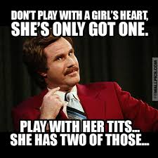 Ron Burgundy Meme - ron burgundy playing with a girl meme facebook wall pic fbwallpics com