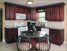 mahogany kitchen cabinets with white appliances kitchen decoration