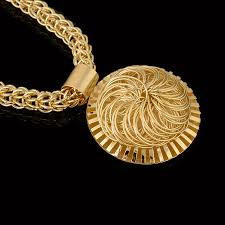 gold big pendant necklace images 2017 new fashion big pendant necklace nigerian wedding african jpg