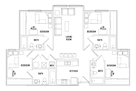 bath floor plans 4 bed 4 bath g the varsity student housing college park md