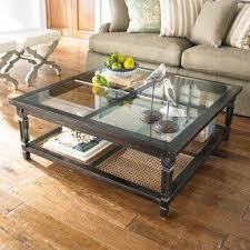 Glass Top Square Coffee Table Large Square Glass Coffee Table Foter