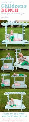 child bench plans build a children s arbor bench ana white the crafting chicks