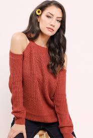 open shoulder sweater open shoulder sweater shop sweaters at papaya clothing