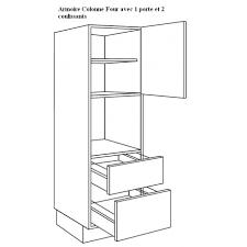 hauteur colonne cuisine meuble cuisine pour four et magnifique meuble pour four encastrable