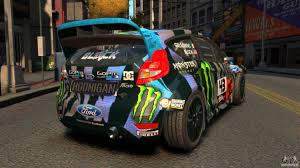 subaru hoonigan ford fiesta rallycross ken block hoonigan 2013 for gta 4