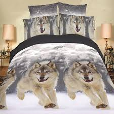 Wolf Bedding Set Happy Wolf Bedding Set Thefashionbooth