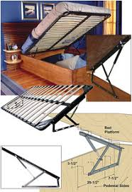 Bed Frame Lift Woodworker Storage Bed Frame And Lift Kits