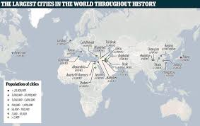 world cities on map map reveals cities that were once the largest in the world daily