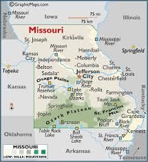 map of missouri missouri large color map