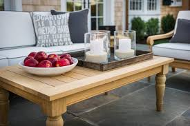Ideas For Coffee Table Centerpieces Design Creative Idea Outdoor Patio With White Sofa And Grey Cushion
