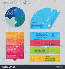 set infographic templates web design minimalistic stock vector