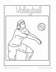 volleyball coloring sheet volleyball worksheets kindergarten