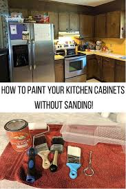 can you paint kitchen cabinets without taking them paint kitchen cabinets without sanding using these low
