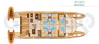 Catamaran Floor Plans Tip Top 2 Galapagos Catamaran Greengo Travel