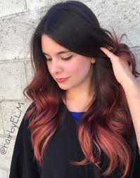 Dark Hair Colors And Styles 40 Vivid Ideas For Black Ombre Hair Red Ombre Hair Red Ombre