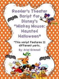 reader s theater script for disney s mickey mouse haunted