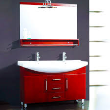 Red Bathroom Cabinets Cambridge 48 Inch Double Sink Bathroom Vanity Set