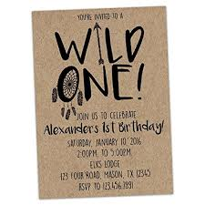 amazon com wild one birthday invitation for 1st birthday boy