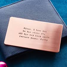 personalised quote gifts personalised metal wallet insert card by metal moments