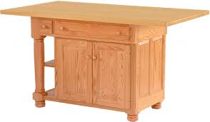 amish roseburg island with two drawers and two doors kitchen islands