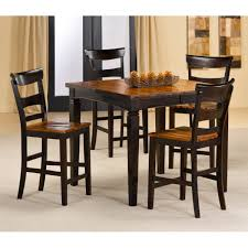 High Top Dining Table Walmart Dining Room Tables And Chairs - Black dining table with wood top