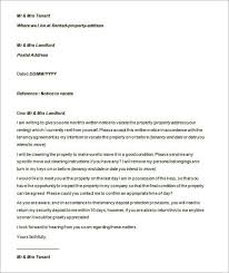 sample terminating tenancy letter by landlord ms word templatezet