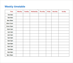 timetable sample excel cerescoffee co