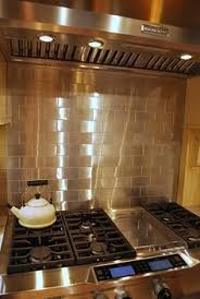 Stainless Steel And Crackled Glass Mosaic Mix EMTWMIXSM - Stainless steel cooktop backsplash