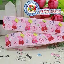 peppa pig ribbon peppa pig ribbon 7 8 inch grosgrain ribbon by the yard for