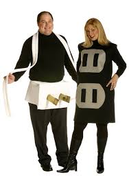 creative couples halloween costume ideas plus size plug and socket costume funny couples halloween costumes