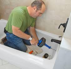 How To Snake A Bathtub Drain Slow Bathroom Drain To Clear A Clogged Bathtub Throughout Design
