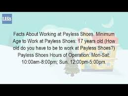 how old do you have to be to work at payless youtube