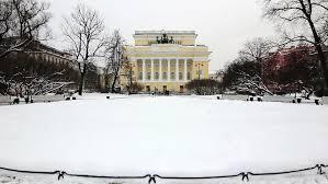 washington dc march 17 2014 snow falls slowly white house