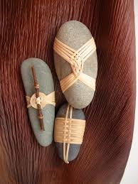 Japanese Wrapping Method by Cane Wrapped Rocks Japanese Basketry Knots Rock Wraps And Stone