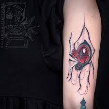 red jewel spider tattoo insects and spiders tattoos ideas
