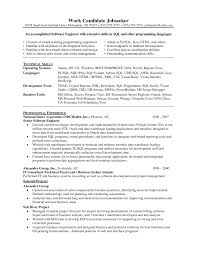 Resume For 1 Year Experienced Software Engineer Test Analyst Sample Resume Create Resume Best Financial Analyst