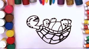 tortoise coloring pages for kids how to draw tortoise how to color